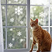amzmonnsuta 90個入り スノーフレーク・ステッカー クリスマス 飾り 雪の結晶 ウォールステッカー 窓・店・パーティー 装飾