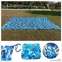 パーゴラ温室用日除けテラスハンティング用大型ミリタリー強化ブルー迷彩ネットアンチUVバルコニーガーデンガゼボデコ2X3m 3X3m 3X4m 3X5m 4X4m 5X5m 6X6m 6X8m (Size : 14*14m)