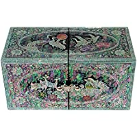 Mother of Pearl Secret Duck Animal Lacquer Wood Drawer Jewelry Trinket Keepsake Treasure Chest Box Case