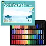 (64色) HASHI ハシ 専門家用 無毒性 ソフト パステル セット - チョーク パステル カラー soft short pastels For professionals