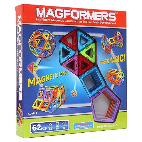マグフォーマー 62ピース MAGFORMERS 新感覚のマグネットブロック 創造力を育てる知育玩具 [並行輸入品]