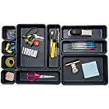 Backerysupply Interlocking Desk Drawer Organizer Separators for Kitchen, Bathroom, Makeup, Office