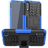 SKTGSLAMY Galaxy A01 Case, with HD Screen Protector, [Shockproof] Tough Rugged Dual Layer Protective Case Hybrid Kickstand Co