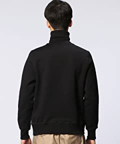 Turtleneck Sweat Shirt 1112-343-1769: Black