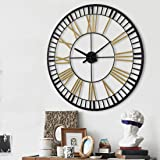 Large Wall Clocks - Big Oversized Round Silent Battery Operated Metal Clock for Home Living Room Kitchen, 32 inches