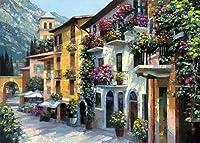 村Hideaway by Howard Behrens Europe City Gardens花キャンバス( Choose Yourサイズ) 47x35 IC-B2706D-4735C