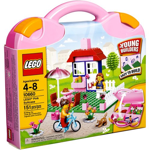LEGO Bricks and More LEGO Pink Suitcase Play Set