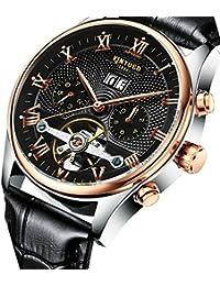 Dovewill メンズ 防水 スポーツ 自動巻き 自動機械式時計 腕時計