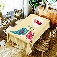 [テンカ]テーブルクロス テーブルカバー 食卓カバー かわいい 北欧 簡約 モダン 芸術 ホワイト 150*260cm