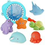 Richgv Kids Bath Toys Non-Toxic Funny Bathtub Toys Early Educational Toys Gifts for Boys Girls Toddlers Swimming Pool Home Ba