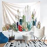 砂漠の風景タペストリー  サボテンのタペストリー 多機能ホーム装飾壁掛けタペストリー 絵画テーブルクロス  アートなディスプレイ 模様替え 新築祝い 結婚祝い プレゼント  彩布