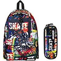 Bonne Backpack with Matching Pencil Case Value Pack - Unisex Design SK8Tag