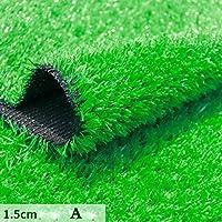 GAPING 人工芝マットフェイクグラスグリーン人工芝屋外シミュレーション装飾カーペットプラスチック芝生高さ1.5 Cm人工芝 (Color : A, Size : 2x1.5m)