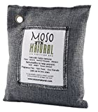 MosoNatural Bag モソバック 200g モソナチュラル 空気清浄バッグ 竹炭 消臭 有害な汚染物質やアレルギー源となる臭いを除去 余分な水分の吸収 過剰な湿気、バクテリア、カビなどを防御 化学物質無使用、無香、無毒 効果は約2年間 (Charcoal)
