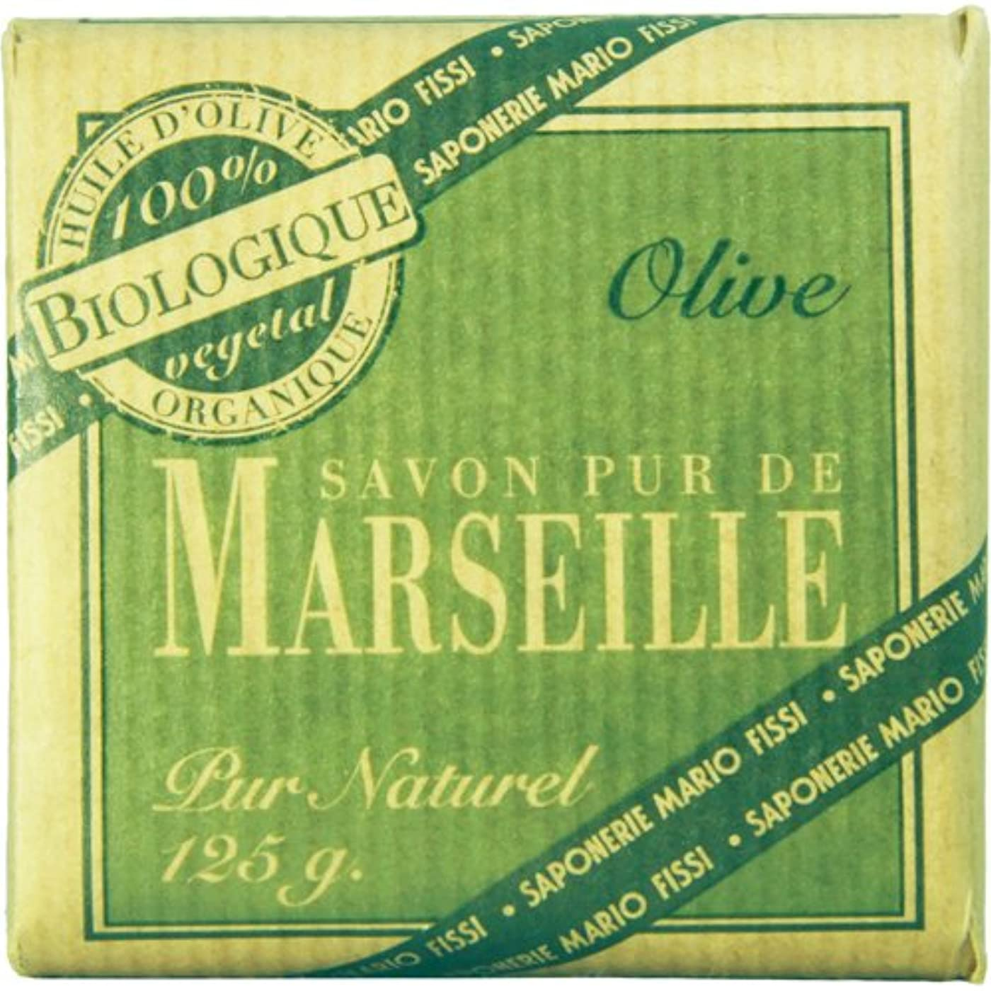 体水陸両用僕のSaponerire Fissi マルセイユシリーズ マルセイユソープ 125g Olive オリーブ
