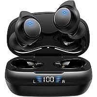 【2021版 Bluetooth5.2技術 瞬時接続】 ワイヤレスイヤホン HiFi ブルートゥース イヤホン LEDデ…
