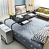 Soges ベッドテーブル ナチュラル ベッドテーブル 伸縮式ベッドテーブル ブラウ ベッドテーブルン ブラック