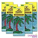 カリフォルニアセンツ パームツリー エアフレッシュナー 5枚セット 【ココナッツ】CALIFORNIA SCENTS Palms Hang Out Air Fresheners【CAPISTRANO COCONUT】 芳香剤