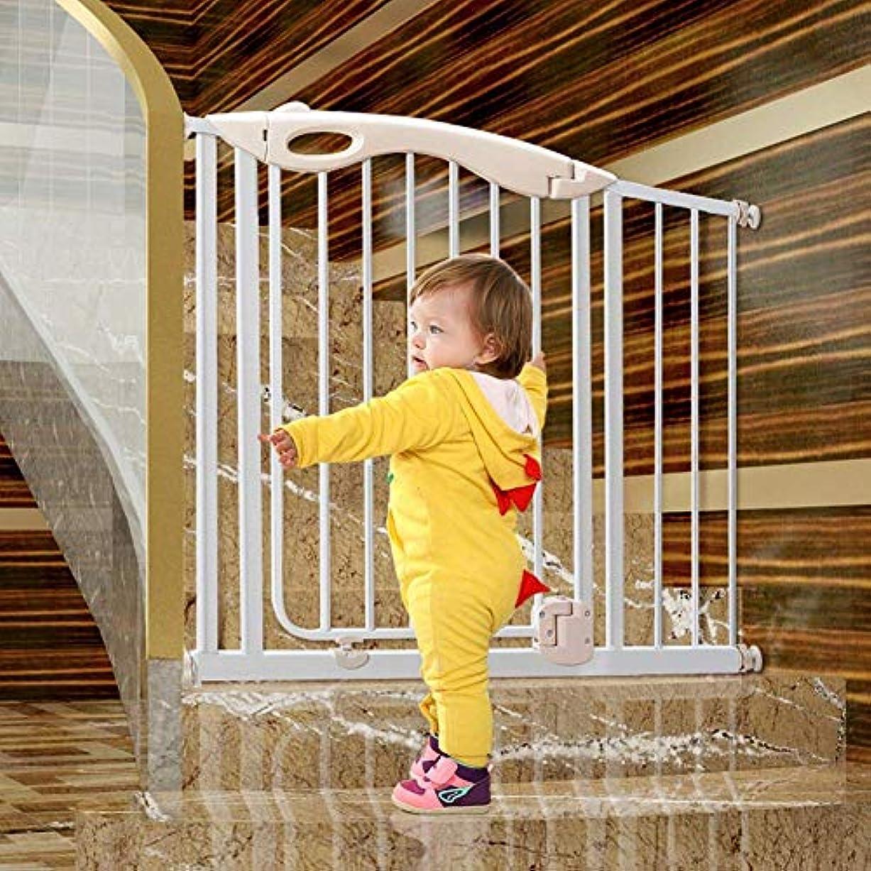 チャット再発するフェデレーションベビーゲートペットゲートチャイルドゲート余分な幅 歩く スルー 安全性 ベビーゲート、 オートクローズ 拡張可能 ペットゲート にとって ザ?ハウス 階段 出入り口 廊下、 カスタマイズ可能,White,154cm-161cm