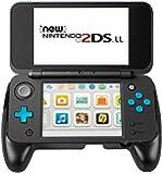 Matchdor Nintendo 2DS LL カバー グリップ 背面ブラケット コントローラー用ハンドル スタンド機能付き