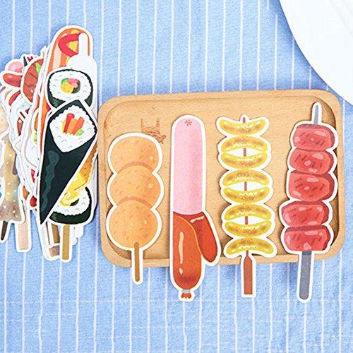 (キッズ ハウス)KIDS HOUSE  しおり ブックマーク 紙製 クリエイティブ 食べ物 串カツ ブックマークス 30枚セット