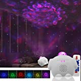 Starry Night Light Projector Bedroom, 3 in 1 Ocean Wave Projector Galaxy Projector Light w/Bluetooth Music Speaker for Baby K