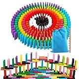 AISFA 積み木 ドミノ倒し 知育玩具 12カラー 240枚 木製 カラフル こども 誕生日 プレ……