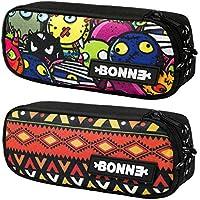 Bonne Pencil Case - Bargain Set of 2 Unisex Pencil Cases for Boys & Girls - Popular Designs - Machupicchu & Evil Friends