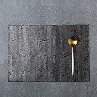 housewaresstore- 北欧ミニマルスタイルレザー断熱パッド厚いウエスタンパッドボウルマットディッシュマットテーブルマットカップパッド防水アンチホットテーブルマットシルバー、グレーマット table mat (色 : Gray)