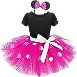 IWEMEK Toddler Baby Girl Princess Polka Dots Christmas Birthday Party Dress Cosplay Fancy Costume Bowknot Leotard Ballet Danc