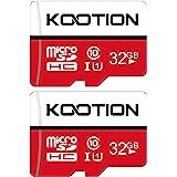 KOOTION 2 Pack 32 GB Micro SD Card Class-10 Micro SDHC Memory UHS-I Card Ultra High Speed TF Card R Flash, C10, U1, 32 GB