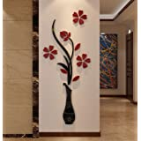 3d Vase Wall Murals for Living Room Bedroom Sofa Backdrop Tv Wall Background Originality Stickers Gift DIY Wall Decal Wall De