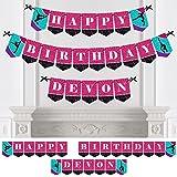 Bigドットの幸せのPersonalizedタンブル、フリップ& Twirl – Gymnastics – カスタム誕生日パーティーホオジロバナー&デコレーションカスタム名 – Happy誕生日バナー