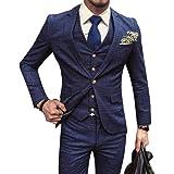 Aculldo スーツ メンス 上下 メンズ 3点セット 長袖 ビジネススーツ ジャケット パンツ ベスト ストレッチ ビジネス カジュアル フォーマル 結婚式 就職スーツ オールシーズン