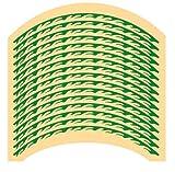 【Die Schatzkiste】 緑 バイク リムステッカー 17インチ 18インチ リム 反射 炎 【 17 ~ 19 インチ 】 デカール ホイール バイク 自転車 車 グリーン (緑色)