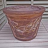 ベトナム鉢 プラハ (40cm) ファイヤーウォッシュ色 テラコッタ 大型 植木鉢 プランター アンティーク調 陶器鉢 おしゃれ 園芸 ガーデニング ヨーロピアンガーデン