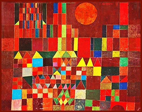 絵画風 壁紙ポスター(はがせるシール式) パウル・クレー Castle and Sun 1928年 表現主義 抽象絵画 キャラクロ K-KLE-002S2 (594mm×469mm) 建築用壁紙+耐候性塗料