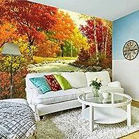 Xbwy カスタム壁画壁画3D寝室のベッドサイドヨーロピアンスタイルの壁紙リビングルームレストランソファ壁画テレビ背景風景壁紙-400X280Cm