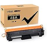 V4INK 1PK Compatible 48A Toner Cartridge Replacement for HP 48A CF248A Toner Cartridge Black Ink for use in HP LaserJet Pro M