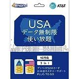 【AT&T】アメリカ SIMカード アメリカ本土 ハワイ プリペイドSIM データ通信 使い放題 (8日間)