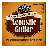 ghs (ガス) S435 Americana Cryogenic Phosphor Bronze Medium Gauge Acoustic Guitar Strings アコースティックギター弦 【12セット】