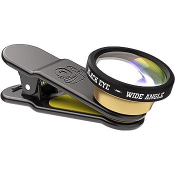 (ブラックアイ)BLACK EYE カメラレンズ スマホ用 WIDE ANGLE 広角レンズ クリップ式