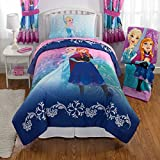 adidas 水着 Disney Frozen Nordic Frost Bed in aバッグ寝具セットwith Disney 's Frozen Elsa 3d Pillow Buddy Plus Bonus Glade Room Spray Air Freshener ツイン ブルー