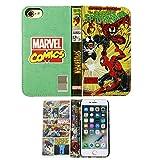 iPhone7 ケース 手帳型 カバー MARVEL マーベル キャラクター コミック柄 / スパイダーマン