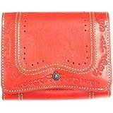ナダヤ(Nadaya) 二つ折財布 レッド H10×W12×D3.5cm