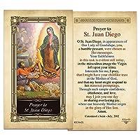 聖Juan DiegoラミネートHolyカード–パックof 10