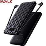 iWalk UBO10000S-001A Trio 2 Quick Charge 3.0 Power Bank, 10000mAh, Black