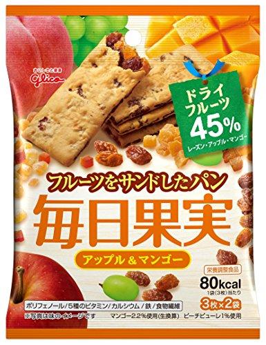 江崎グリコ 毎日果実 アップル&マンゴー 6枚×10個