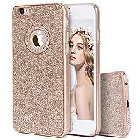 Imikoko iPhone6sケース iPhone6sケース キラキラケース ハード 耐衝撃 薄型 おしゃれ かわいい ブランド (iPhone 6/6s 4.7, ゴールド)