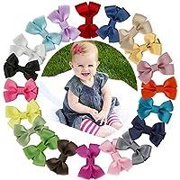 welandtech 20個2インチ小さなブティックHair Bows幼児女児リボンクリップ